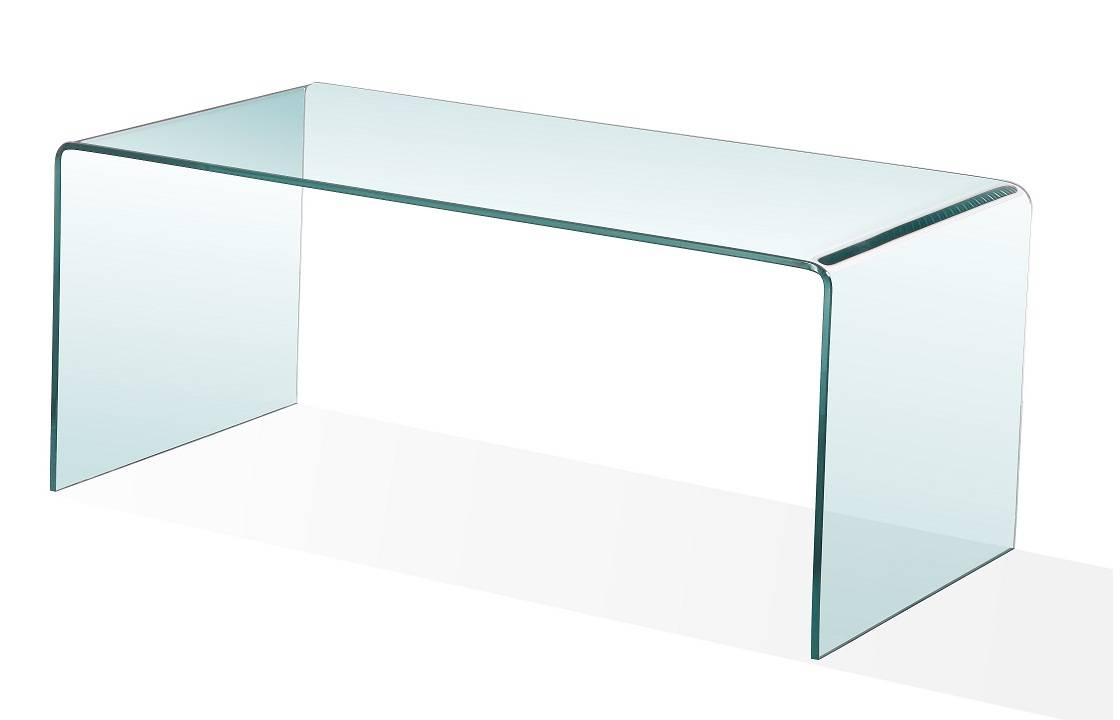 Bent Glass Furniture inside All Glass Coffee Tables (Image 3 of 30)