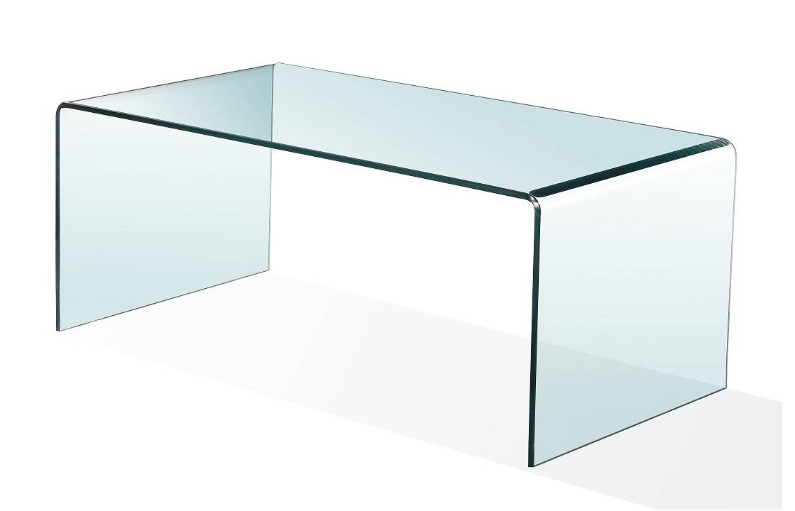 Bent Glass Furniture inside Curved Glass Coffee Tables (Image 3 of 30)