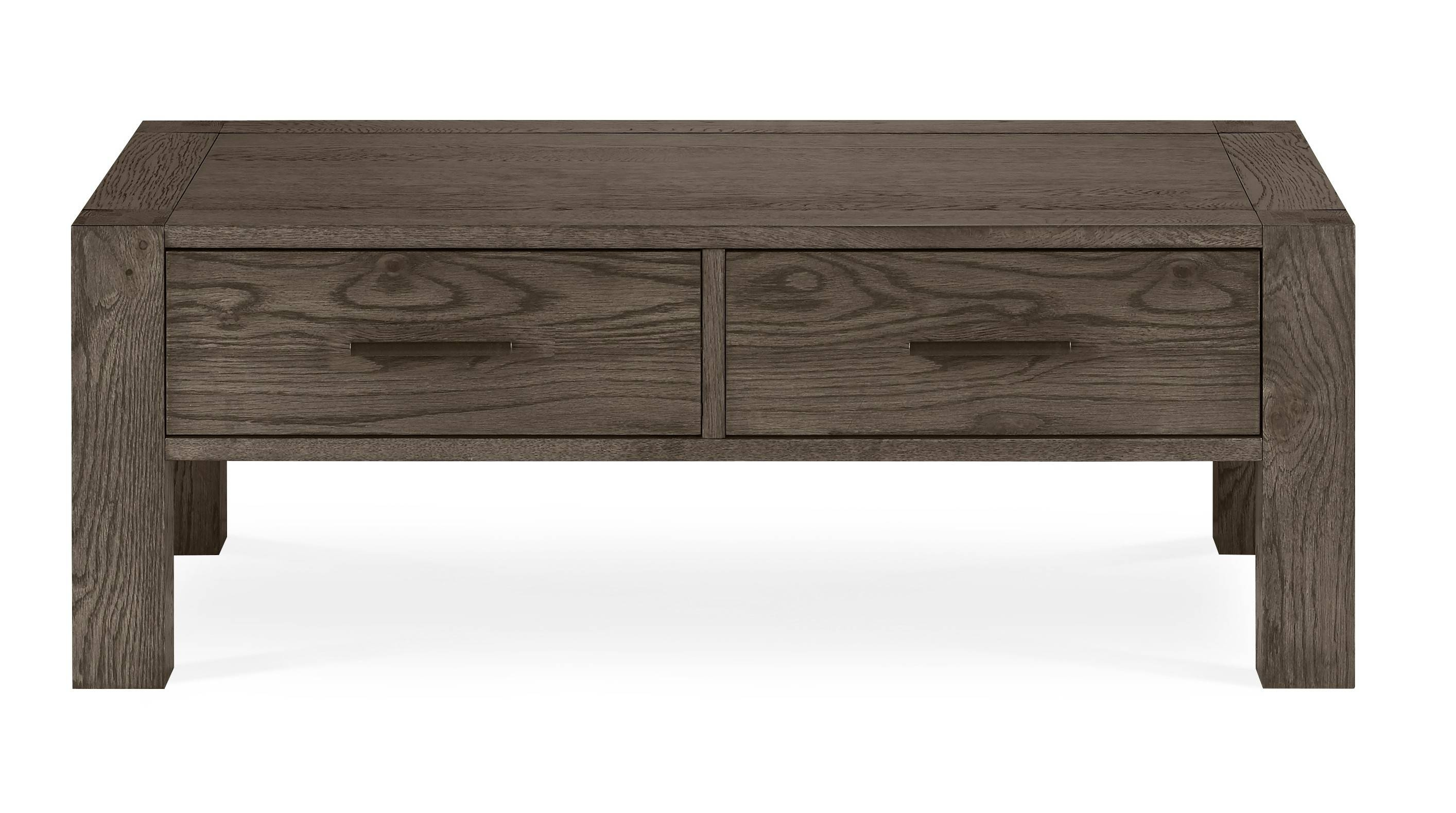 Bentley Designs Turin Dark Oak Coffee Table With Drawers - Style for Dark Oak Coffee Tables (Image 1 of 15)