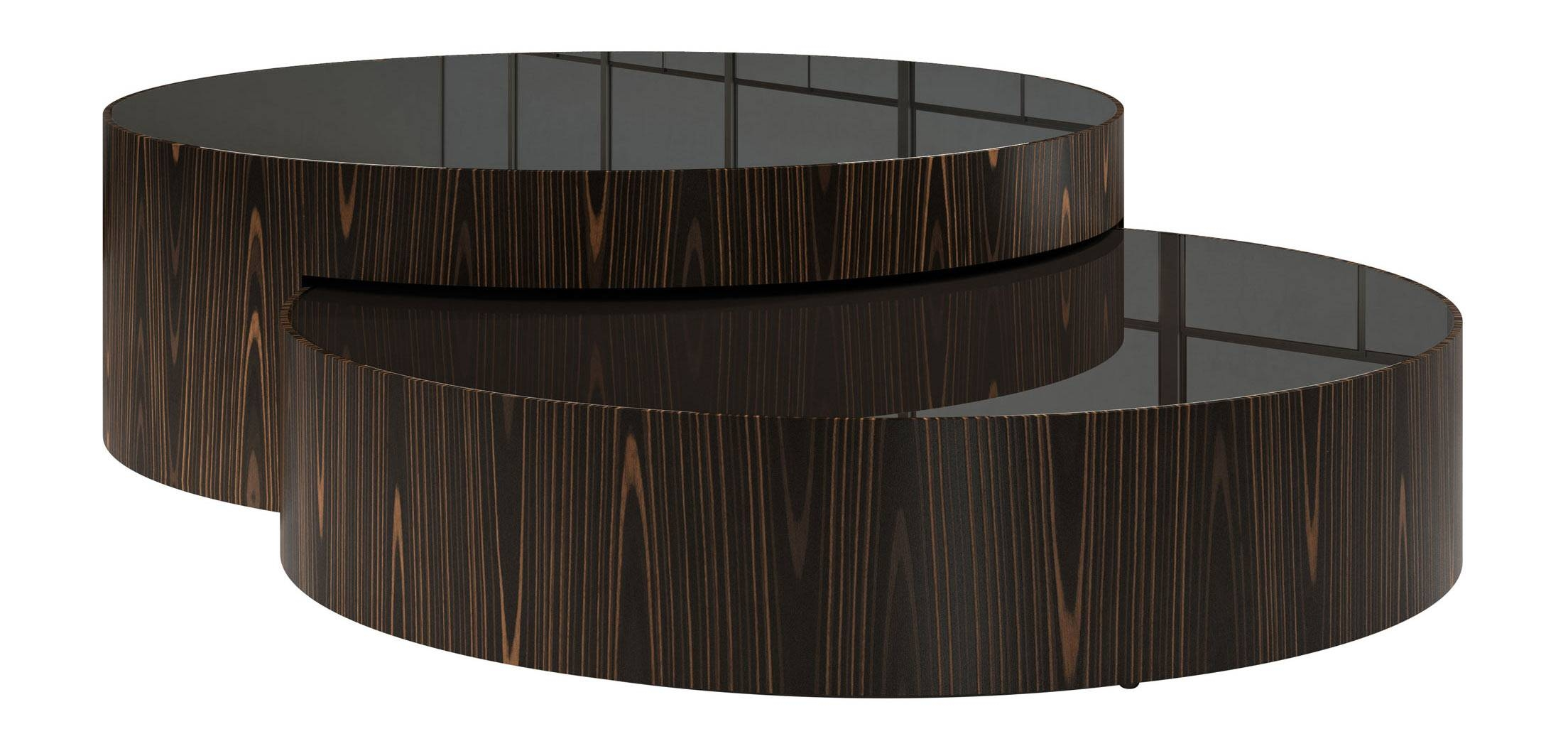 Berkeley Nesting Coffee Table Black Glass On Cathedral Ebony throughout Black Glass Coffee Tables (Image 4 of 30)