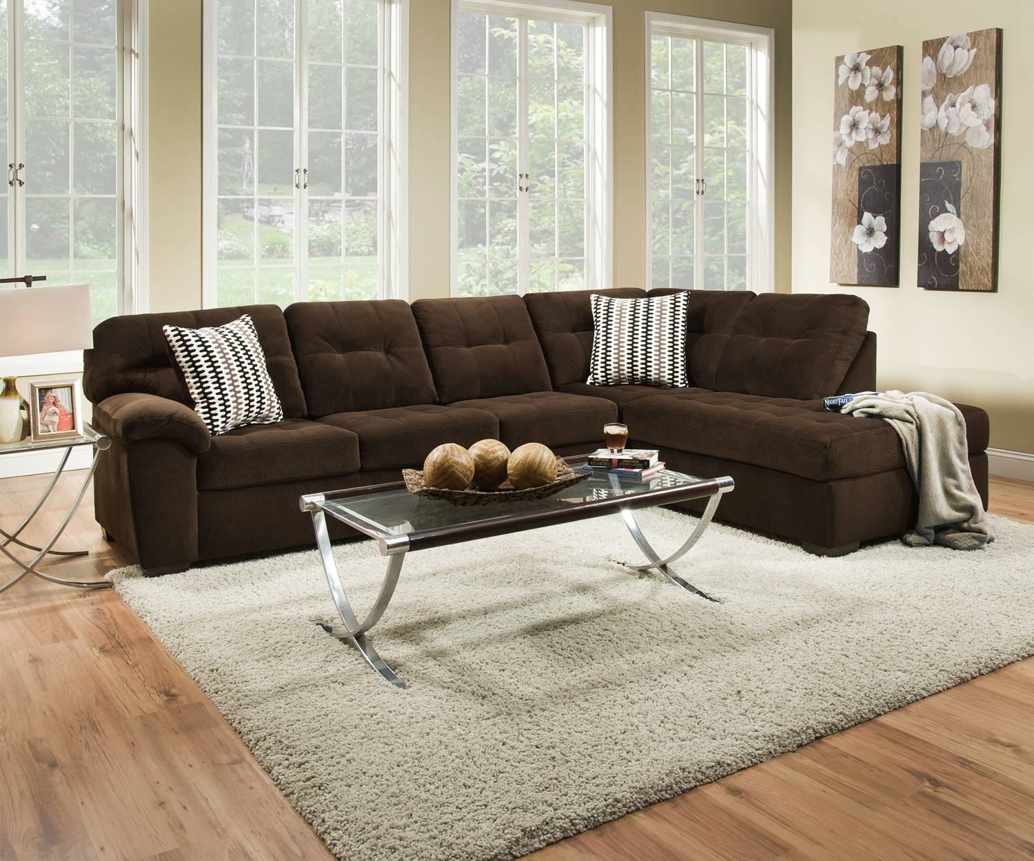 Bernie Godiva Sectionalsimmons with regard to Simmons Sectional Sofas (Image 2 of 30)