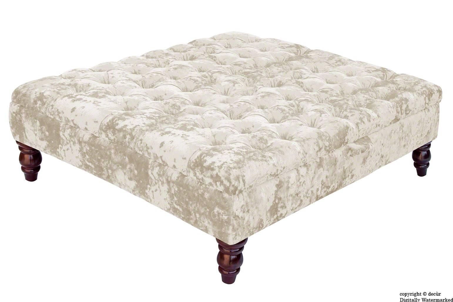 Bespoke Designer Sofas, Footstools, Bespoke Footstools, Bespoke inside Velvet Footstool (Image 2 of 30)
