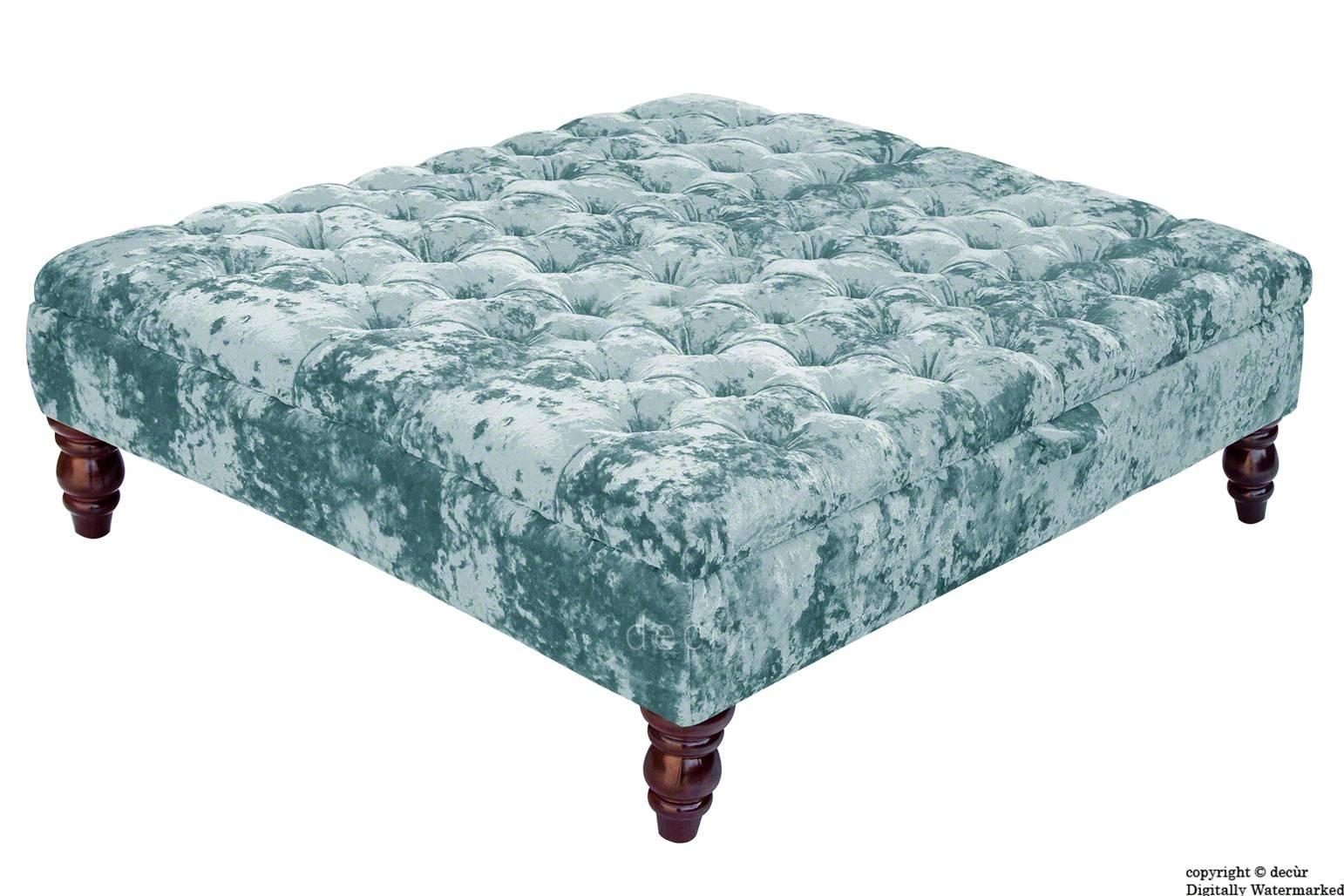 Bespoke Designer Sofas, Footstools, Bespoke Footstools, Bespoke regarding Velvet Footstool (Image 7 of 30)