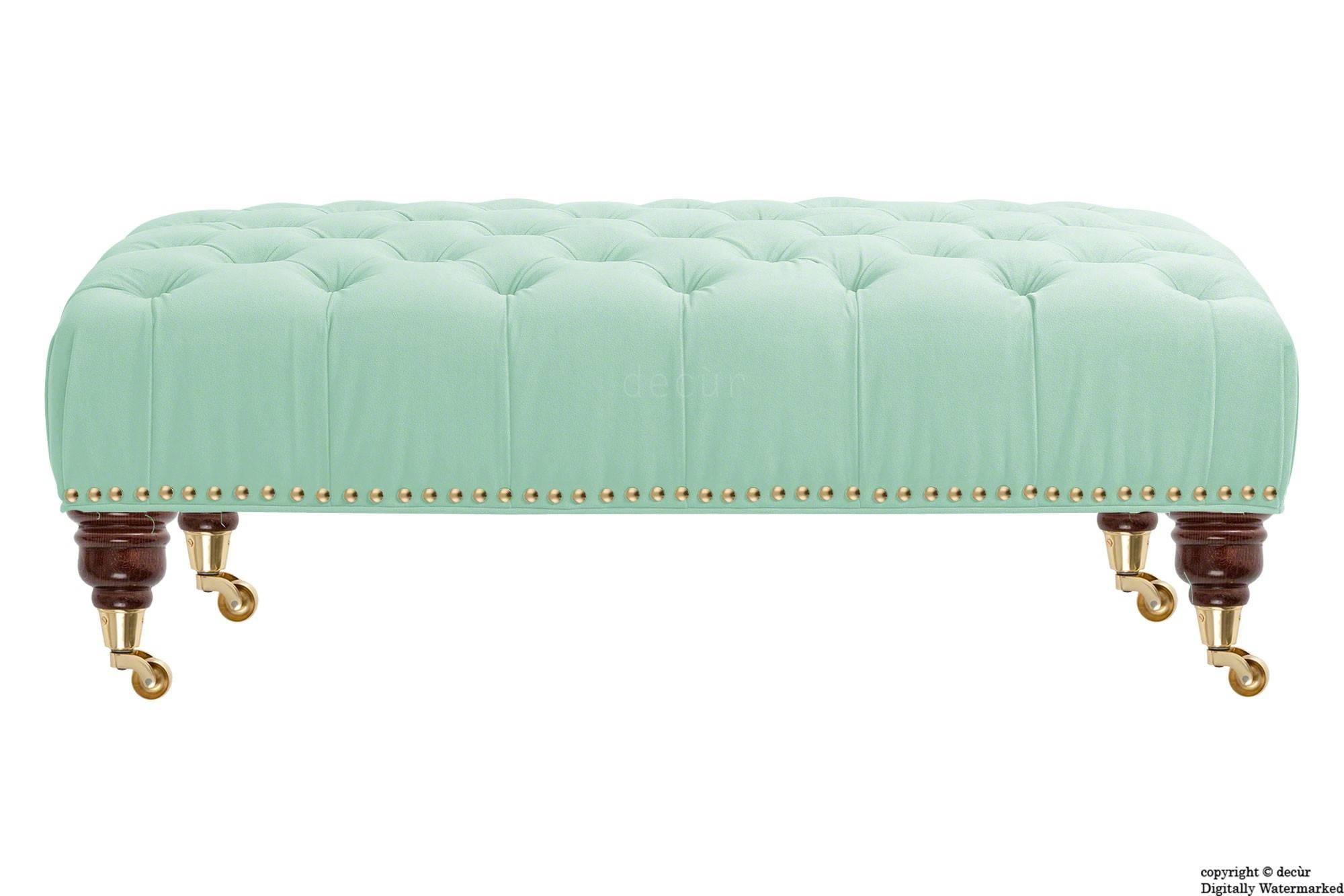 Bespoke Designer Sofas, Footstools, Bespoke Footstools, Bespoke with Velvet Footstool (Image 8 of 30)