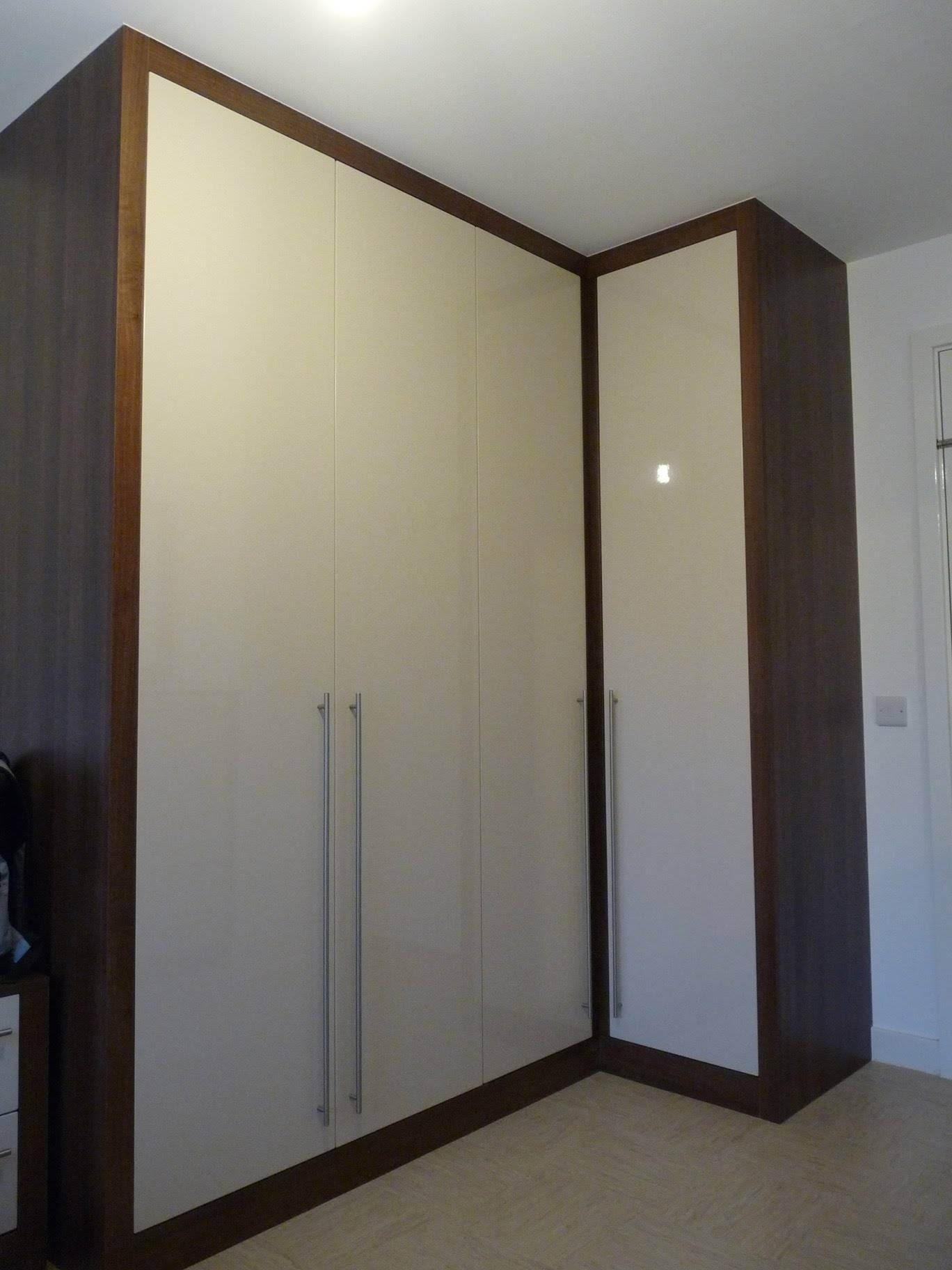 Bespoke Fitted Wardrobes Chunky Frame | Dark Walnut | Sand Stone pertaining to Dark Wardrobes (Image 7 of 30)
