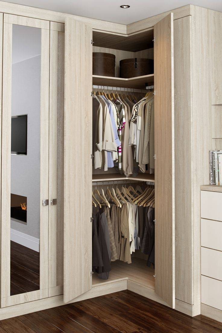 Best 10+ Corner Wardrobe Ideas On Pinterest | Corner Wardrobe for White Corner Wardrobes Units (Image 1 of 15)