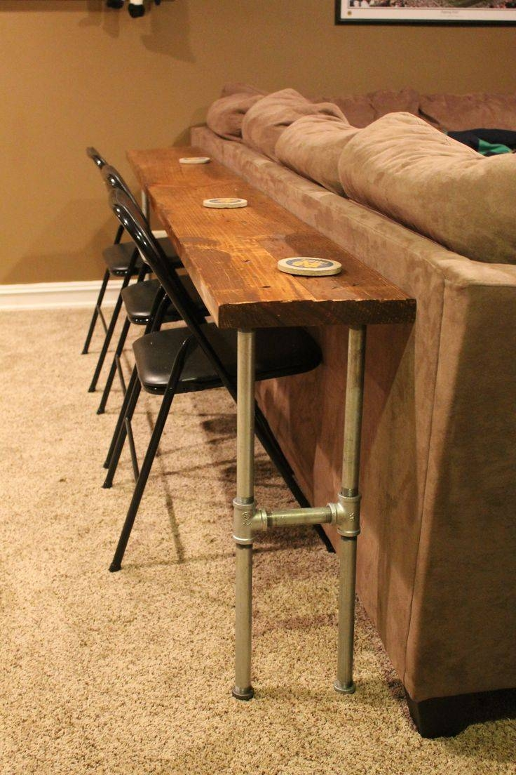 Best 20+ Bar Behind Couch Ideas On Pinterest | Table Behind Couch pertaining to Sofa Drink Tables (Image 3 of 30)