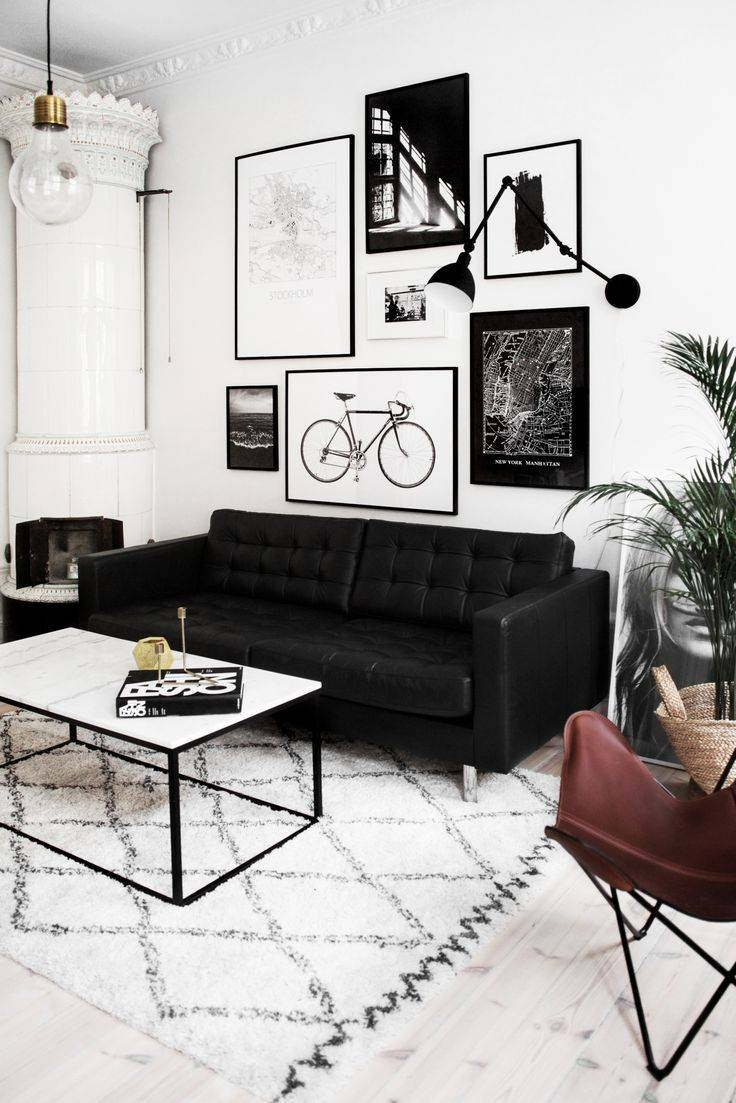 Best 20+ Black Couch Decor Ideas On Pinterest | Black Sofa, Big throughout Black And White Sofas (Image 4 of 30)