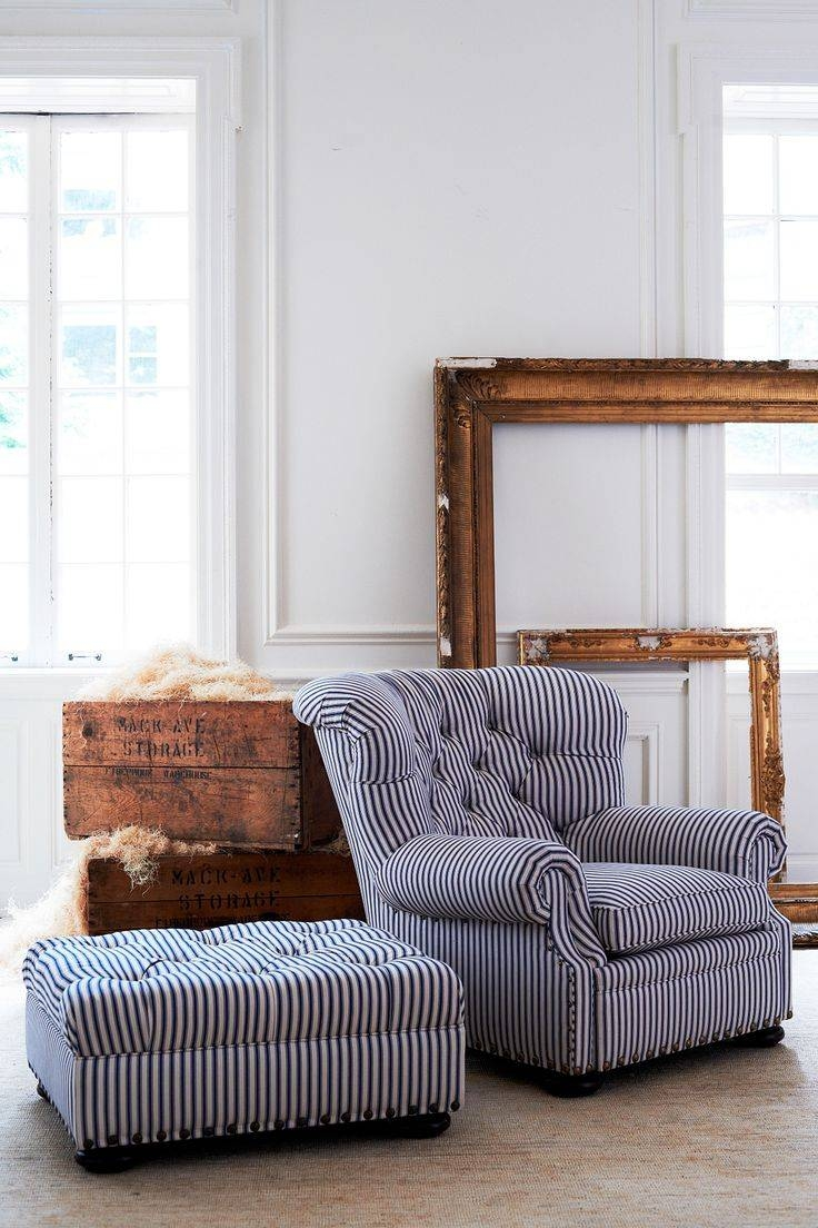 Best 20+ Chair And Ottoman Ideas On Pinterest | Pottery Barn for Striped Sofas and Chairs (Image 5 of 30)