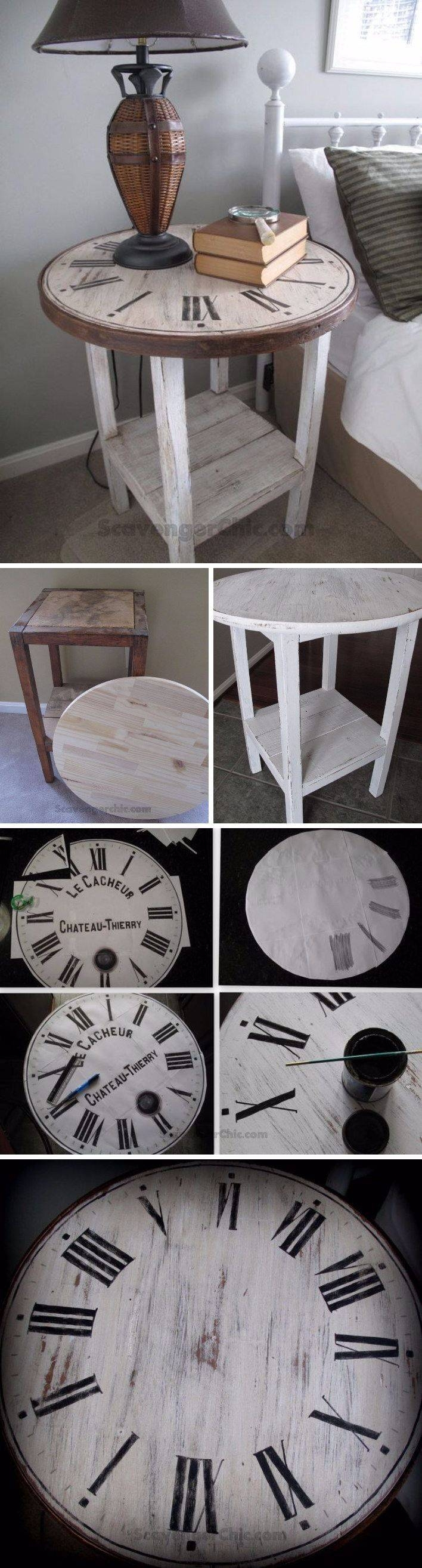 Best 20+ Clock Table Ideas On Pinterest | Small Round Side Table throughout Clock Coffee Tables Round Shaped (Image 6 of 30)