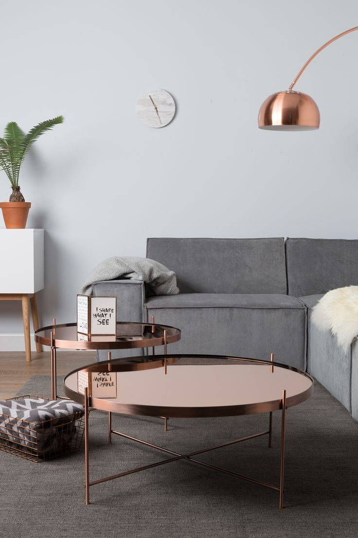 Best 20+ Copper Coffee Table Ideas On Pinterest | Copper Table for Clock Coffee Tables Round Shaped (Image 7 of 30)