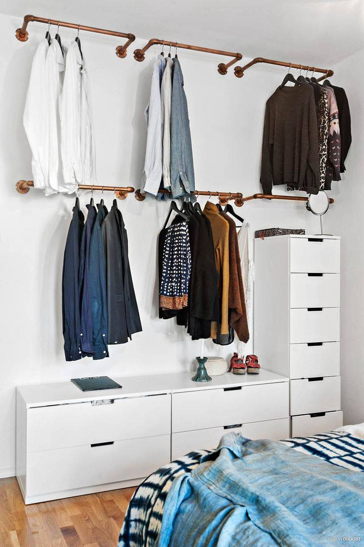 Best 20+ Hanging Clothes Racks Ideas On Pinterest | Hanging within Double Canvas Wardrobes Rail Clothes Storage (Image 3 of 30)