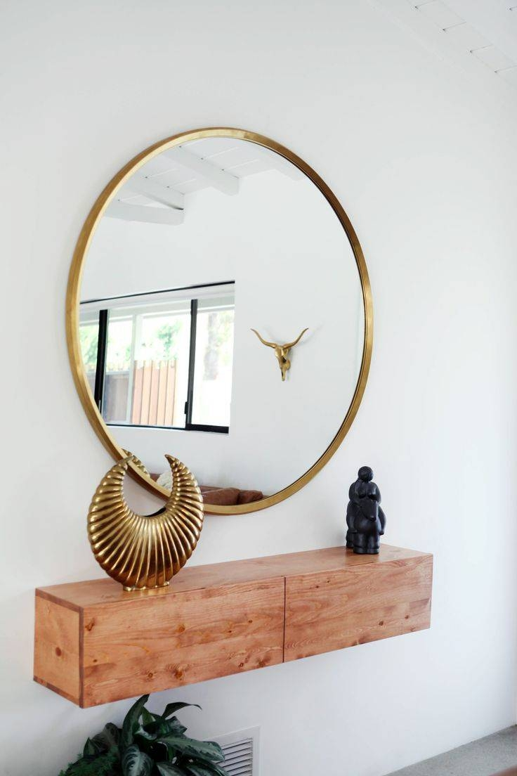 Best 20+ Large Round Mirror Ideas On Pinterest | Large Hallway inside Gold Round Mirrors (Image 4 of 25)