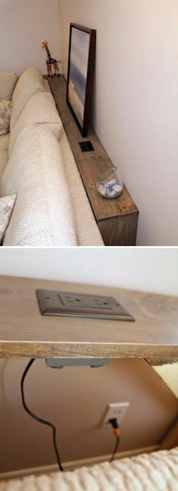 Best 25+ Behind Couch Ideas Only On Pinterest   Small Apartment throughout Sofa Drink Tables (Image 4 of 30)