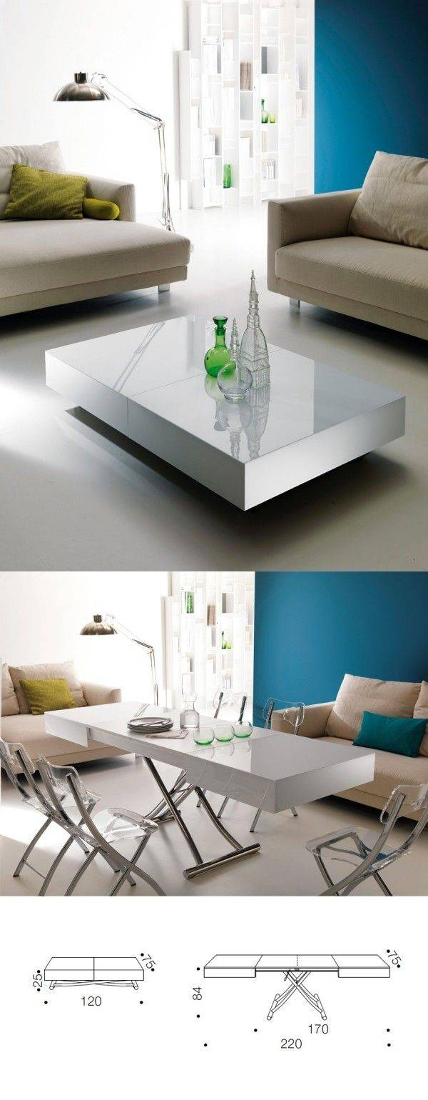 Best 25+ Convertible Coffee Table Ideas On Pinterest | Handmade Throughout Coffee Table Dining Table (View 10 of 30)