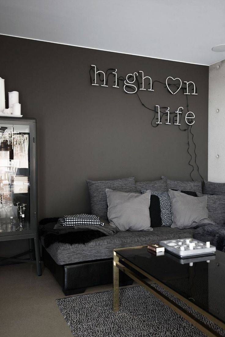 Best 25+ Dark Grey Couches Ideas On Pinterest   Grey Couch Rooms with White And Black Sofas (Image 4 of 30)