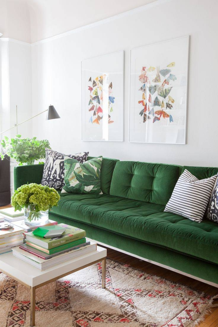 Best 25+ Green Sofa Ideas On Pinterest | Green Living Room Sofas for Green Sofa Chairs (Image 8 of 30)
