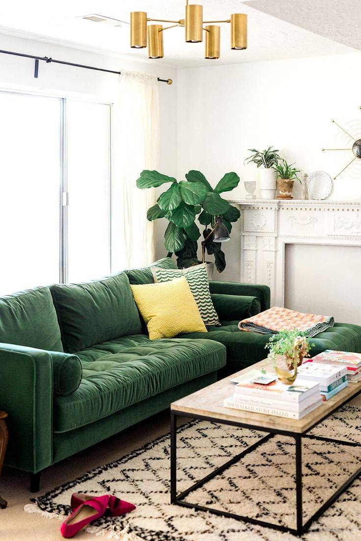 Best 25+ Green Sofa Ideas On Pinterest | Green Living Room Sofas intended for Green Sofa Chairs (Image 10 of 30)