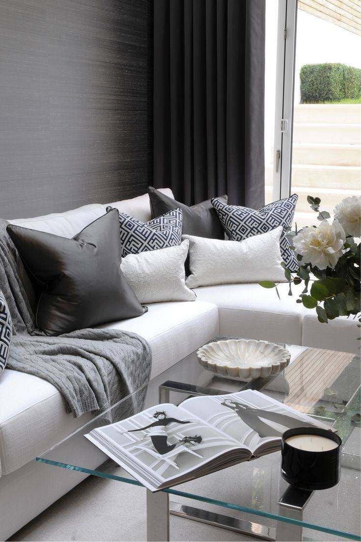 Best 25+ Grey Fabric Corner Sofa Ideas Only On Pinterest | High with White and Black Sofas (Image 5 of 30)