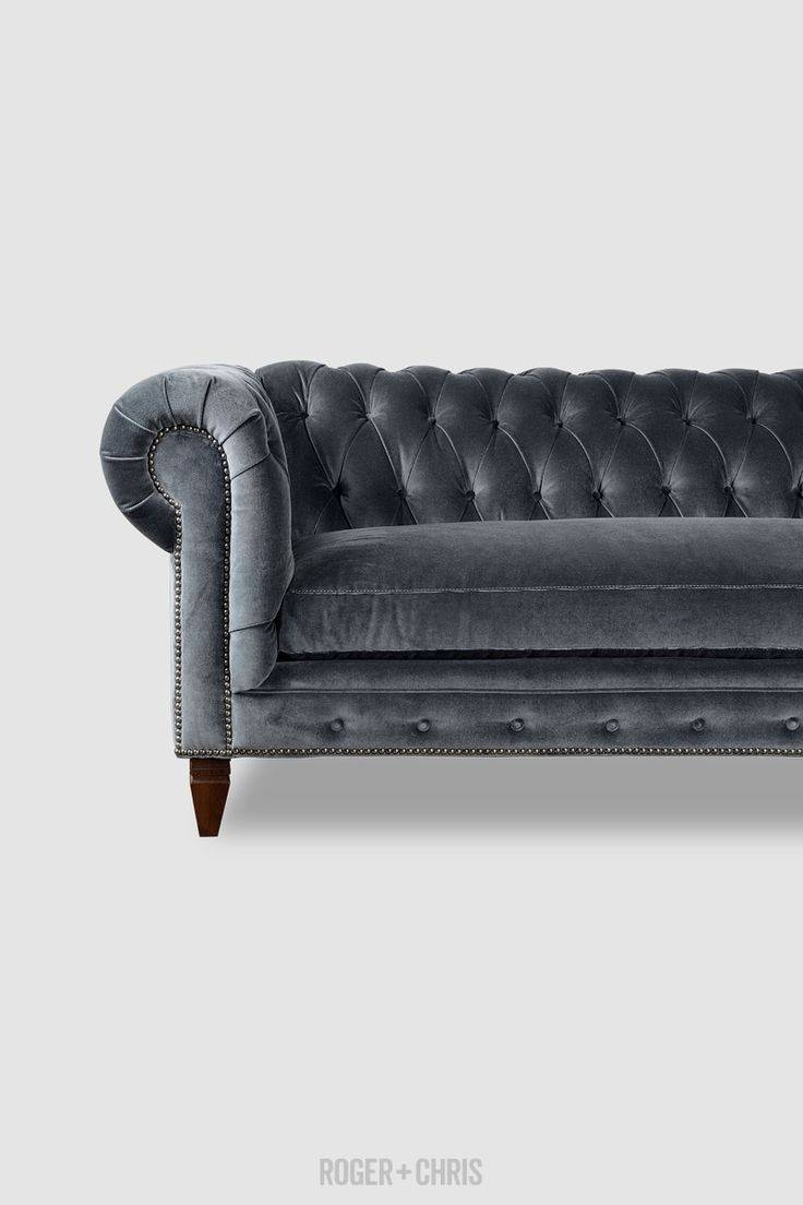 Best 25+ Grey Velvet Sofa Ideas On Pinterest | Gray Velvet Sofa with Leather And Cloth Sofa (Image 3 of 25)