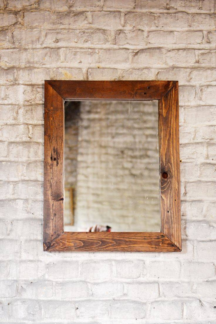 Best 25+ Handmade Framed Mirrors Ideas Only On Pinterest intended for Rustic Oak Mirrors (Image 2 of 25)