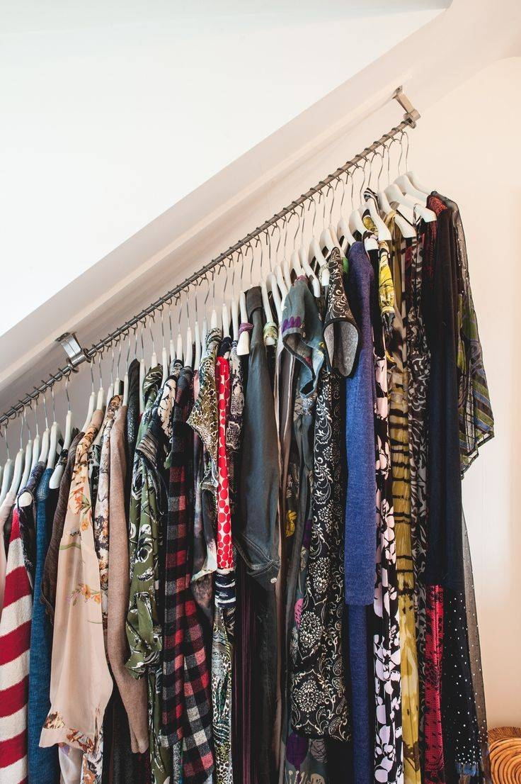 Best 25+ Hanging Rail Ideas On Pinterest | Hanging Clothes Racks inside Double Rail Wardrobes Argos (Image 12 of 30)