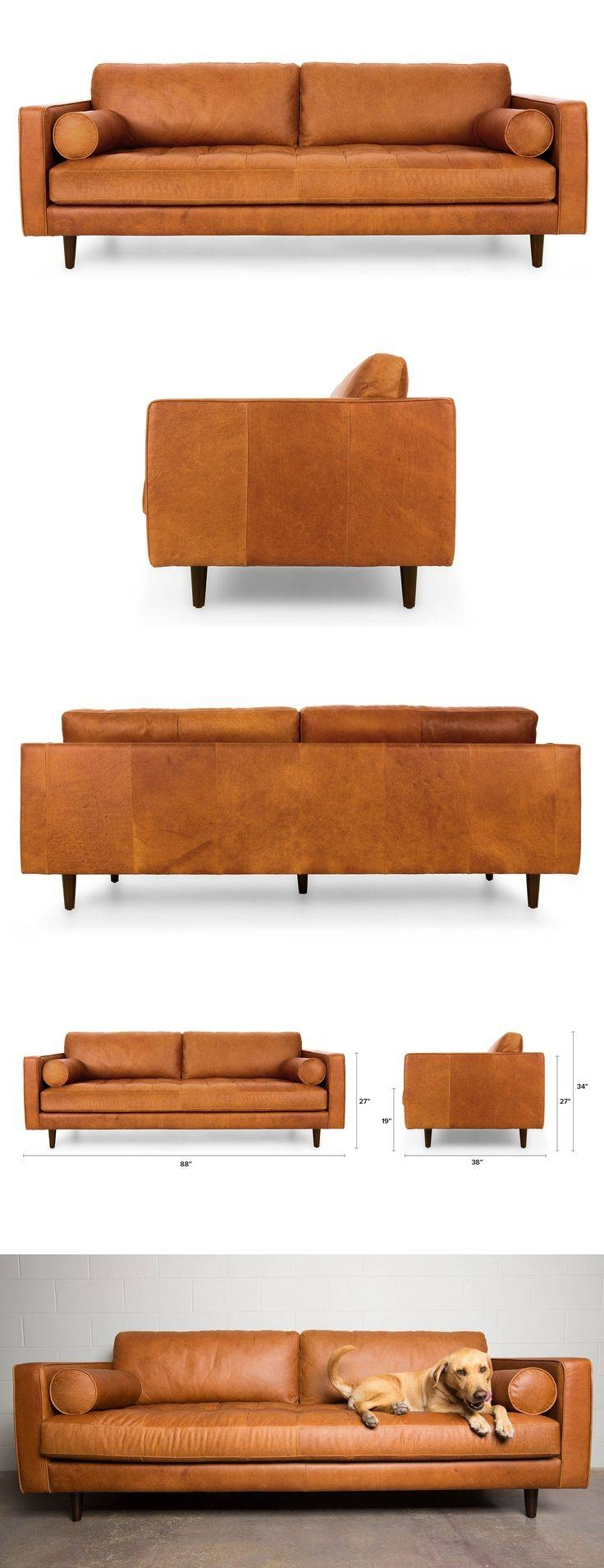 Best 25+ Leather Sofas Ideas On Pinterest | Leather Couches, Brown throughout Leather Bench Sofas (Image 3 of 30)