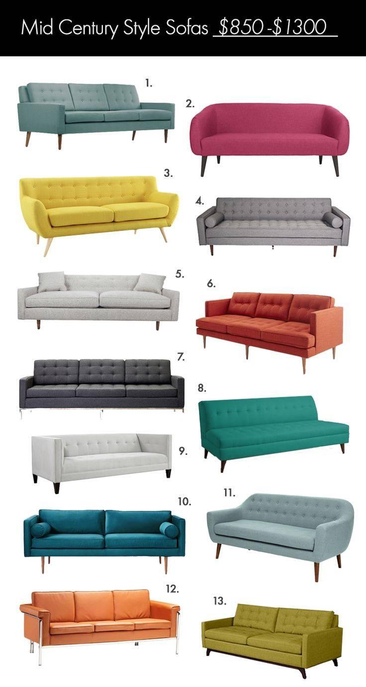 Best 25+ Mid Century Sofa Ideas On Pinterest | Mid Century Modern throughout Mid Range Sofas (Image 4 of 30)