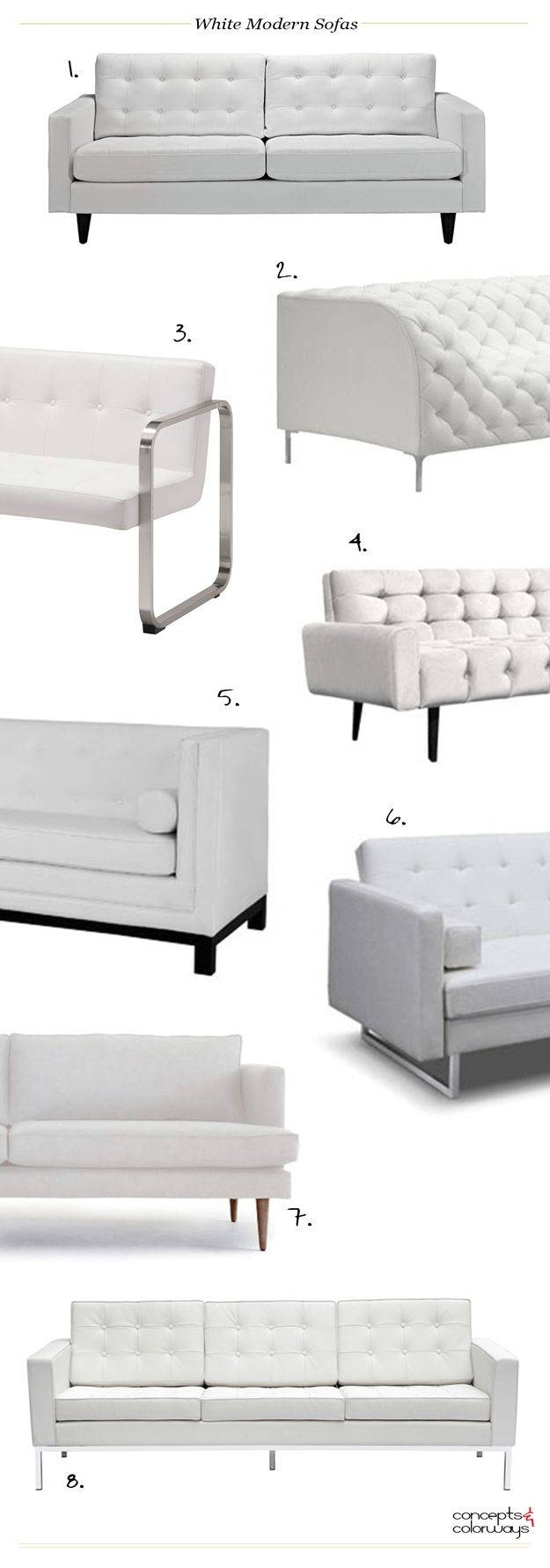 Best 25+ Moderne Sofas Ideas That You Will Like On Pinterest throughout White Modern Sofas (Image 3 of 30)