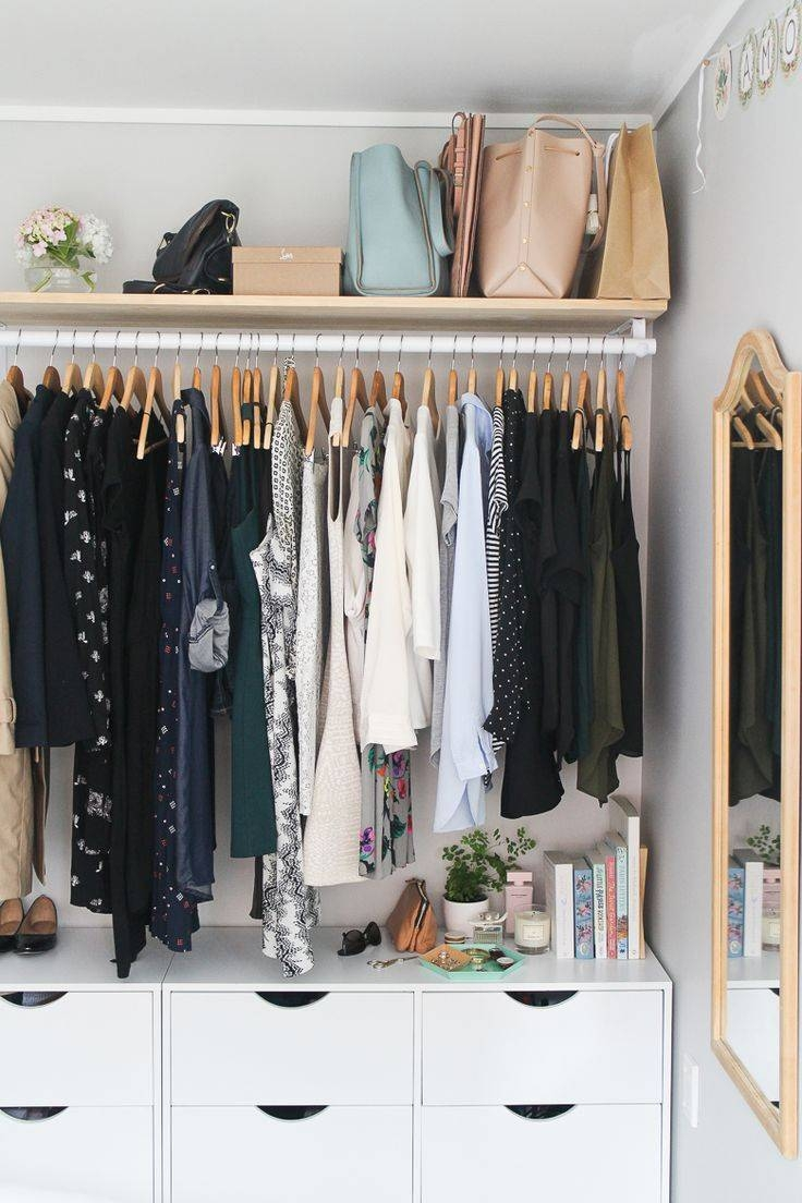 Best 25+ Open Wardrobe Ideas On Pinterest | Hanging Wardrobe intended for Double Black Covered Tidy Rail Wardrobes (Image 8 of 30)