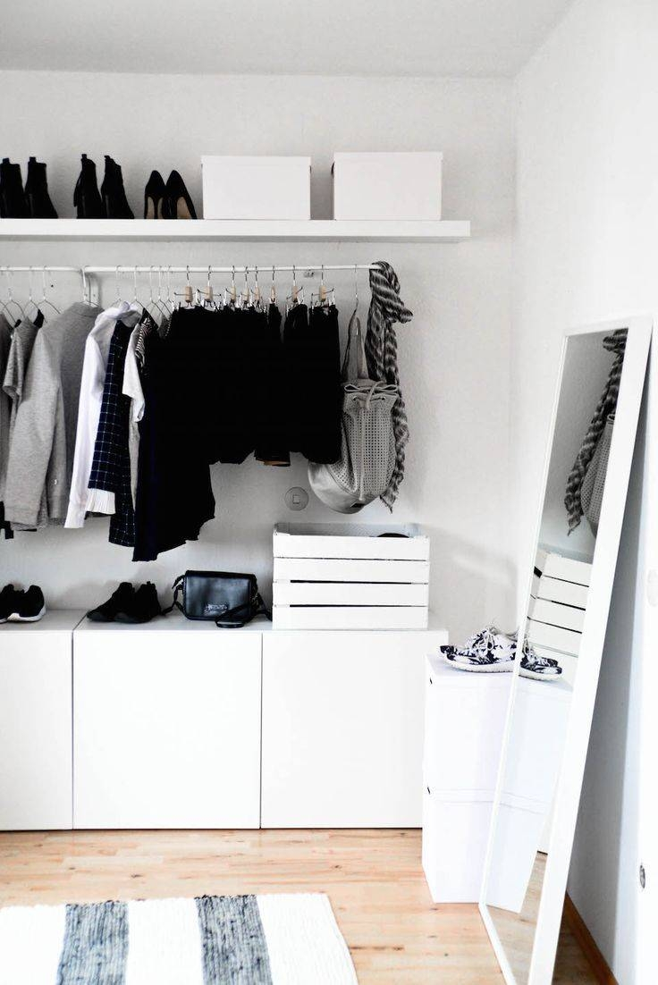 Best 25+ Open Wardrobe Ideas On Pinterest | Hanging Wardrobe intended for Double Black Covered Tidy Rail Wardrobes (Image 7 of 30)
