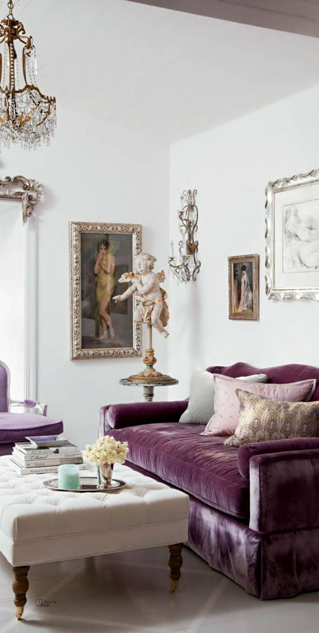 Best 25+ Purple Sofa Ideas On Pinterest | Purple Sofa Inspiration with regard to Velvet Purple Sofas (Image 7 of 30)