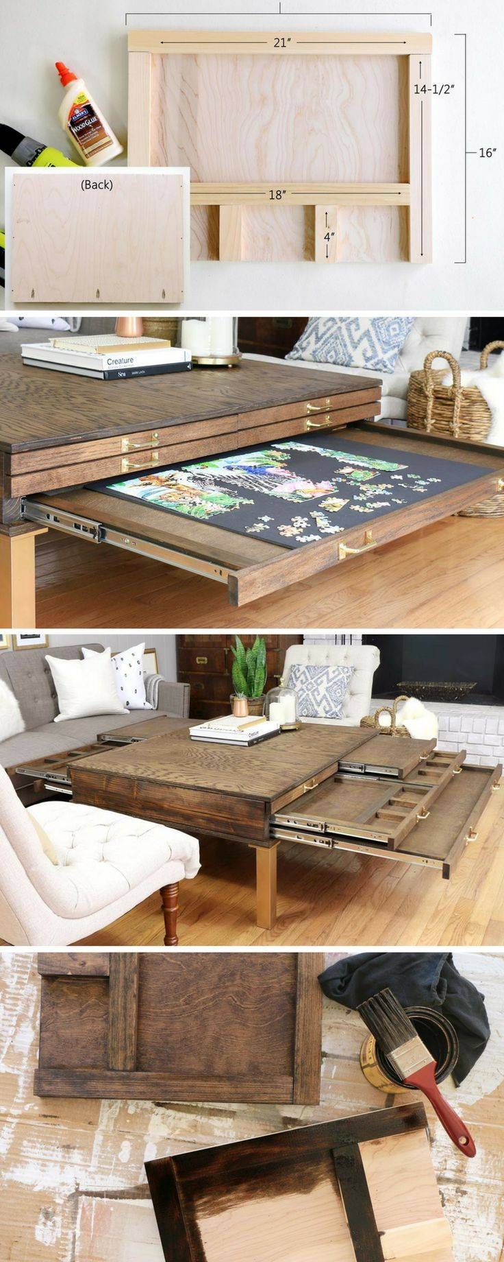 Best 25+ Puzzle Table Ideas On Pinterest | Puzzle Board, Jigsaw in Puzzle Coffee Tables (Image 10 of 30)