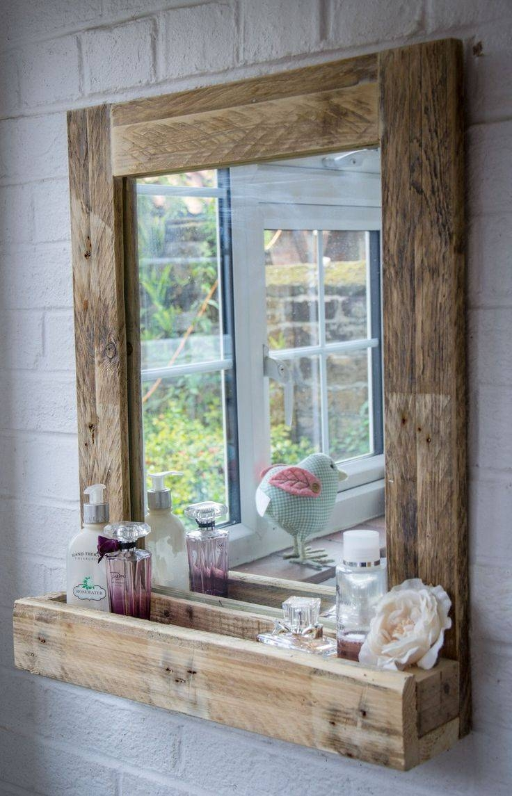 Best 25+ Reclaimed Wood Mirror Ideas Only On Pinterest | Pallet inside Rustic Oak Mirrors (Image 3 of 25)