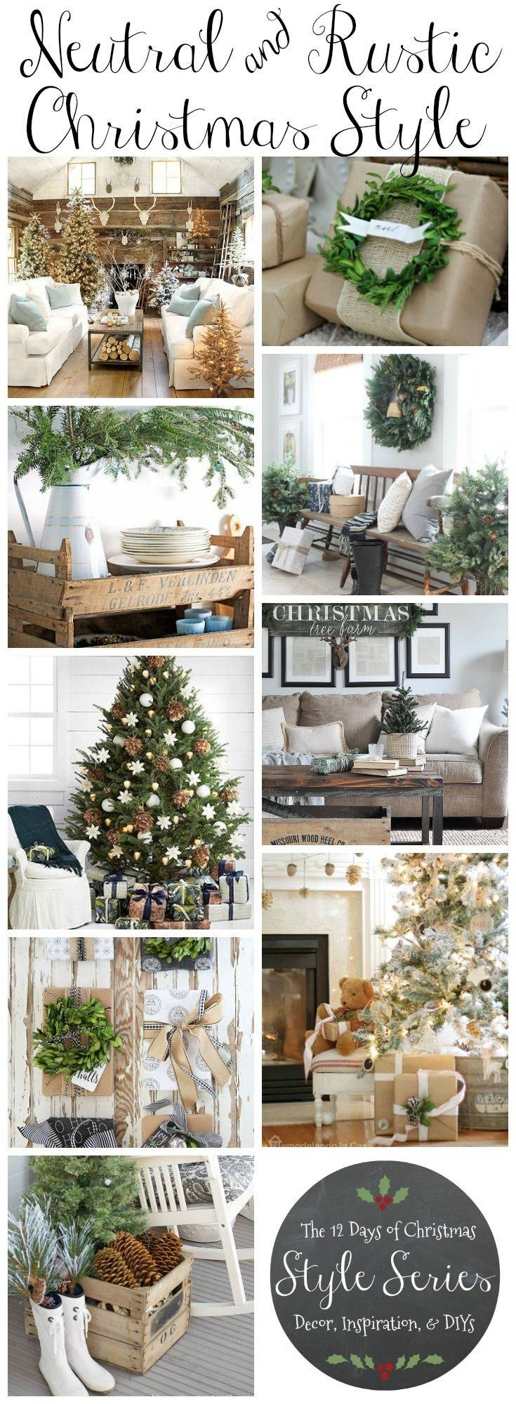 Best 25+ Rustic Christmas Decorations Ideas On Pinterest | Rustic regarding Rustic Christmas Coffee Table Decors (Image 12 of 30)