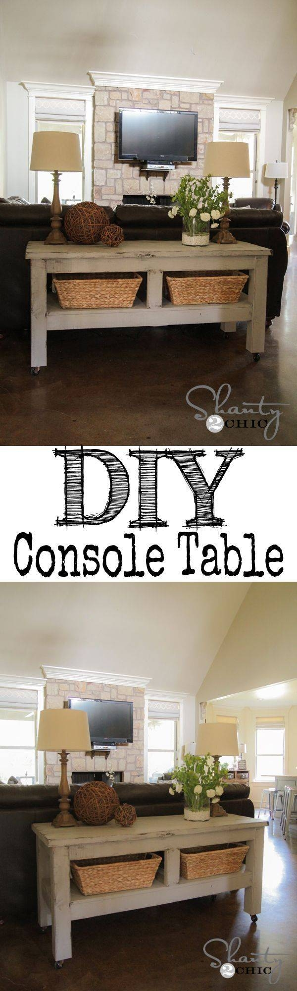 Best 25+ Table Behind Couch Ideas On Pinterest | Behind Sofa Table within Sofa Back Console (Image 7 of 30)