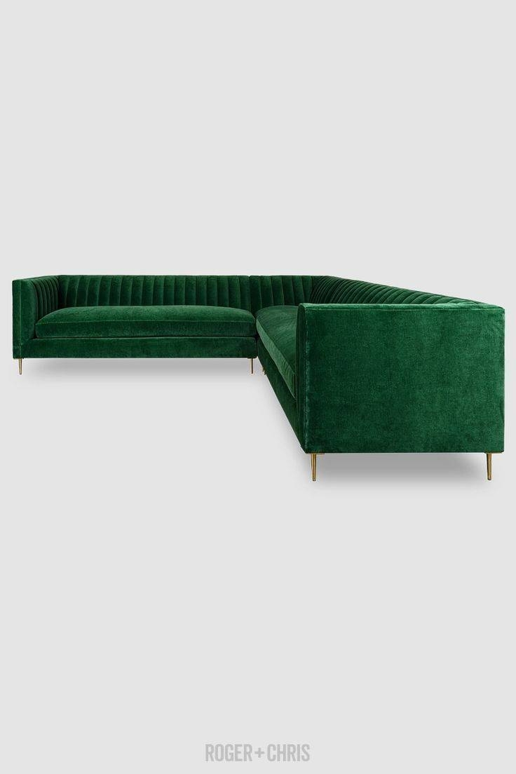 Best 25+ Tufted Sectional Ideas On Pinterest | Tufted Sectional pertaining to Green Sectional Sofa (Image 8 of 30)