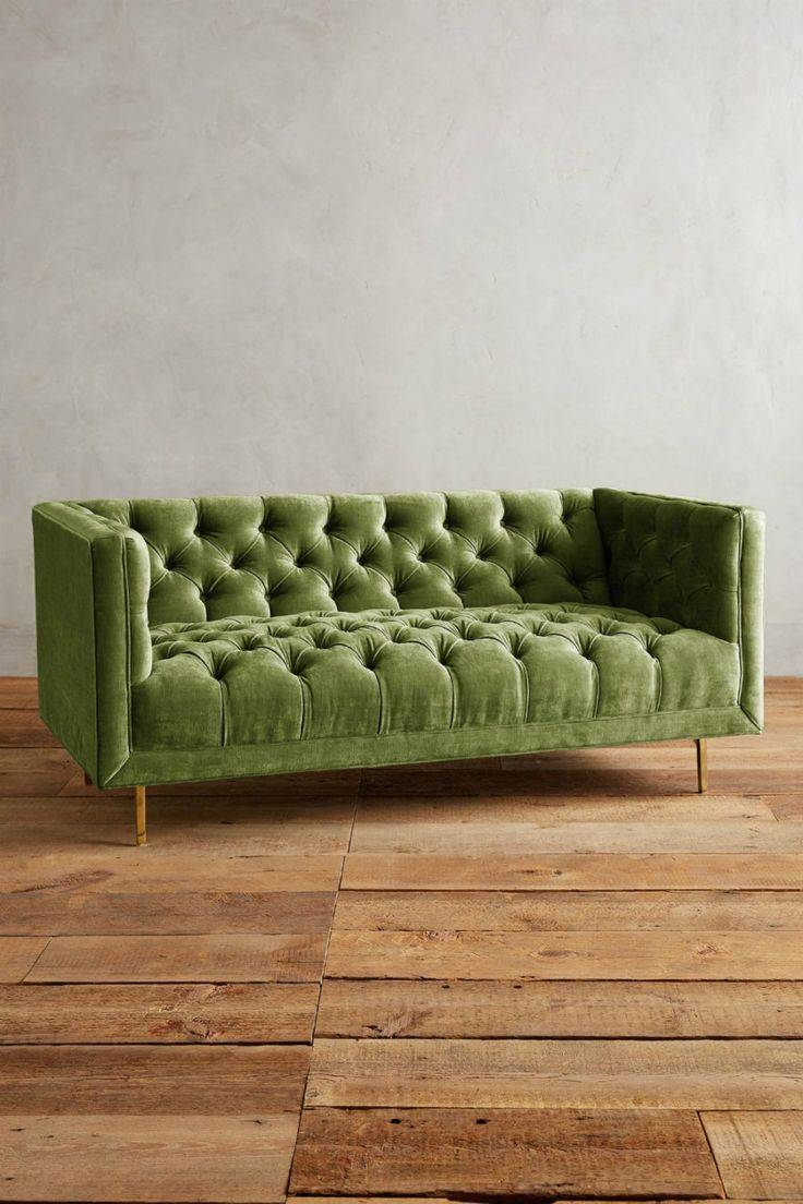 Best 25+ Velvet Chesterfield Sofa Ideas On Pinterest pertaining to Green Sofa Chairs (Image 13 of 30)