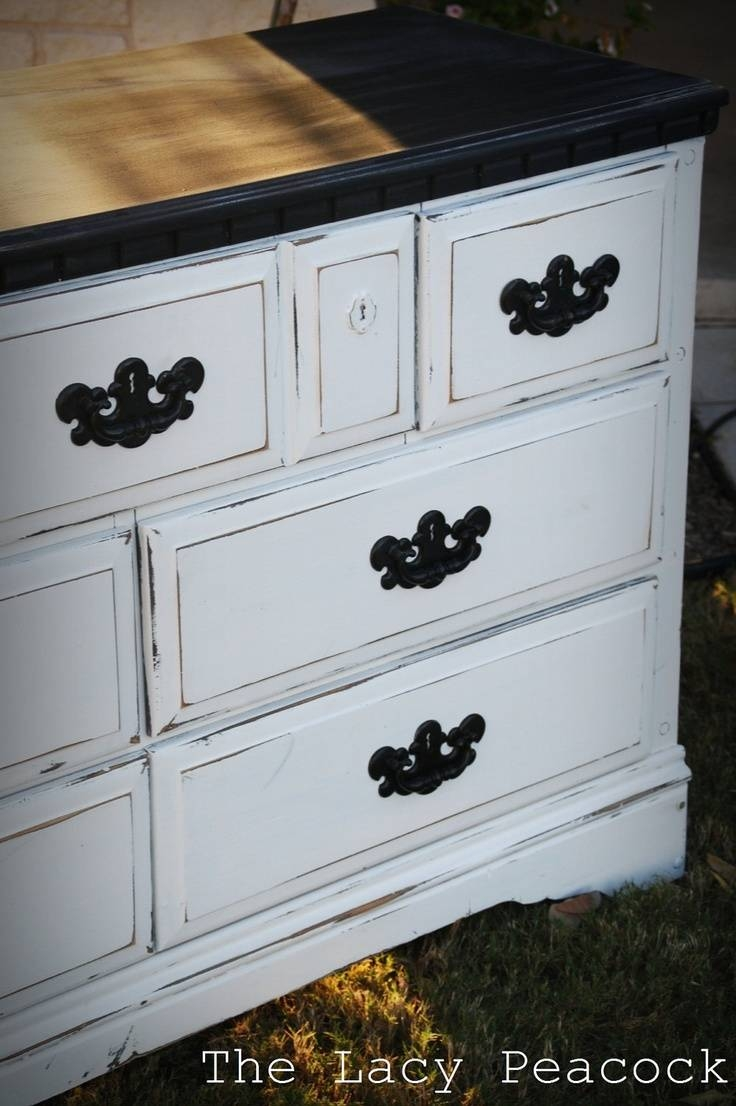 Best 25+ White Distressed Dresser Ideas Only On Pinterest for White Distressed Finish Sideboards (Image 12 of 30)