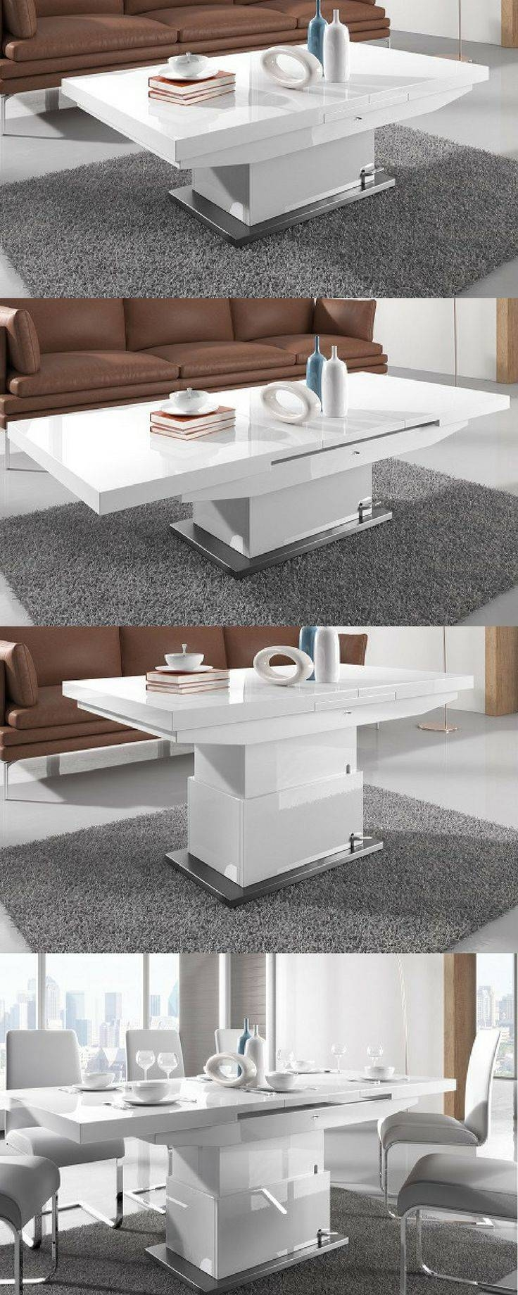 Best 25+ White Gloss Coffee Table Ideas On Pinterest | Table Tops Intended For White Gloss Coffee Tables (View 2 of 30)