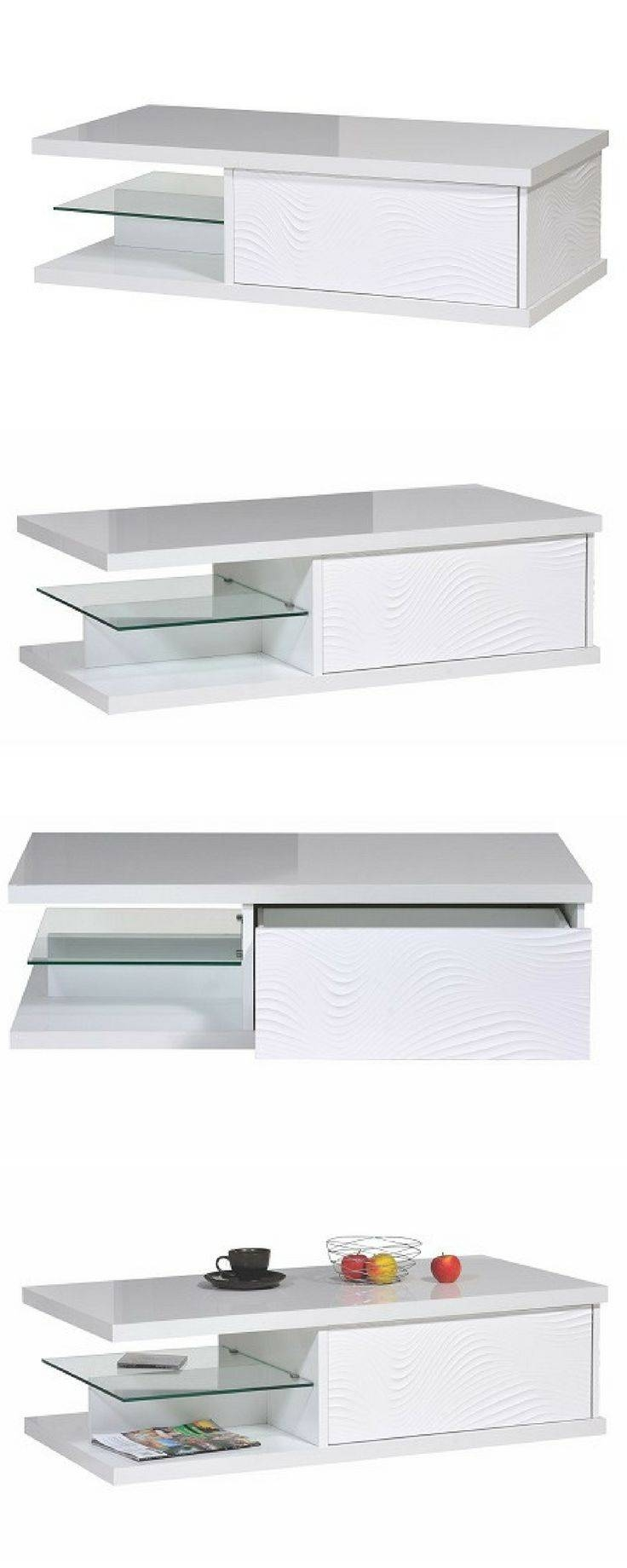 Best 25+ White Gloss Coffee Table Ideas On Pinterest | Table Tops Throughout White Gloss Coffee Tables (View 3 of 30)