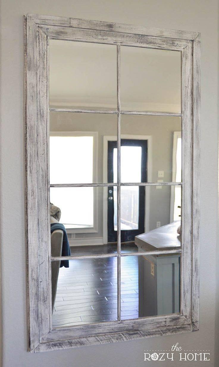 Best 25+ Window Pane Mirror Ideas On Pinterest | Windows Decor With Regard To Old Style Mirrors (View 22 of 25)