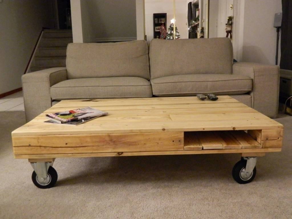 30 Best Collection of Rustic Coffee Table With Wheels