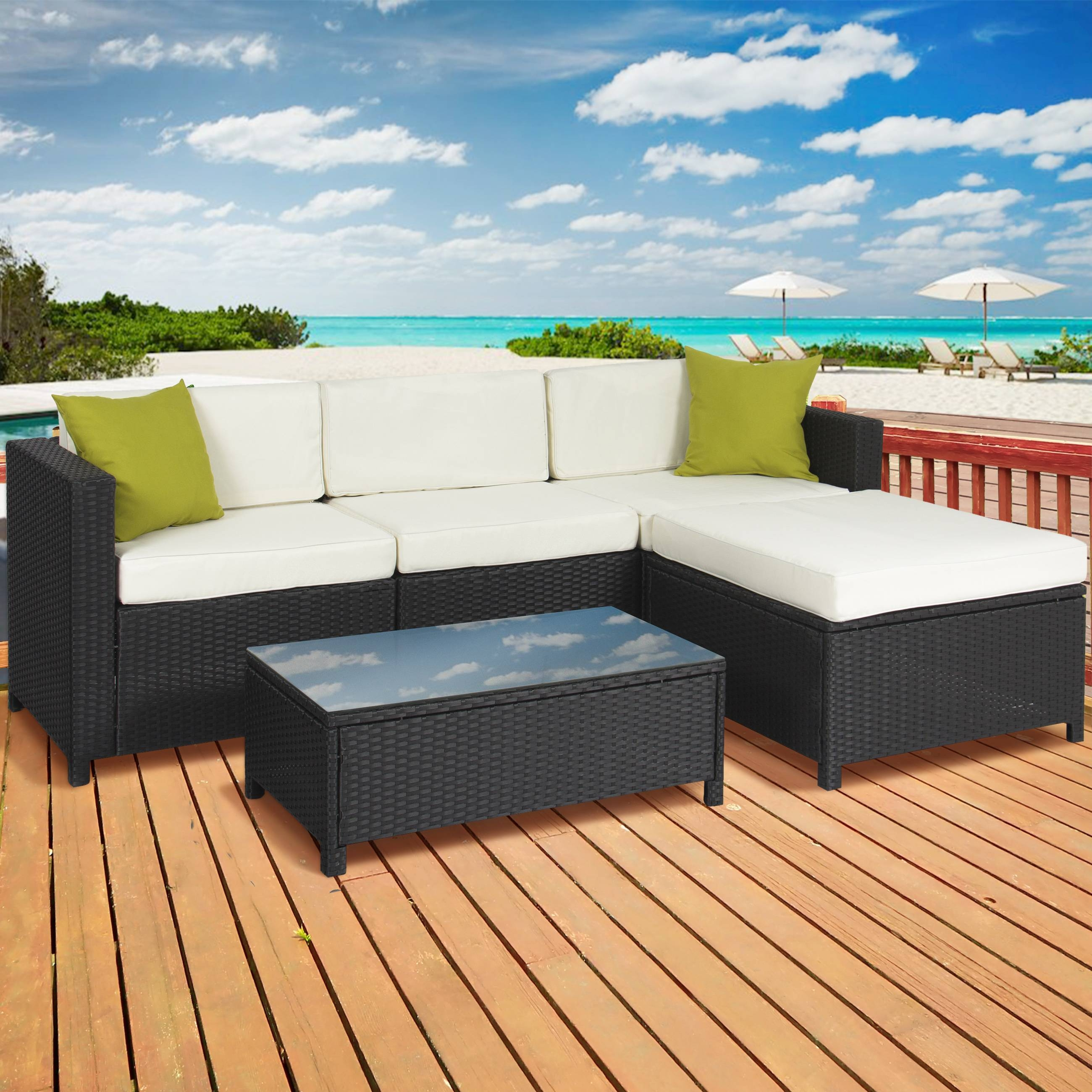 Best Choice Products 7Pc Outdoor Patio Garden Furniture Wicker for Outdoor Sofa Chairs (Image 6 of 30)