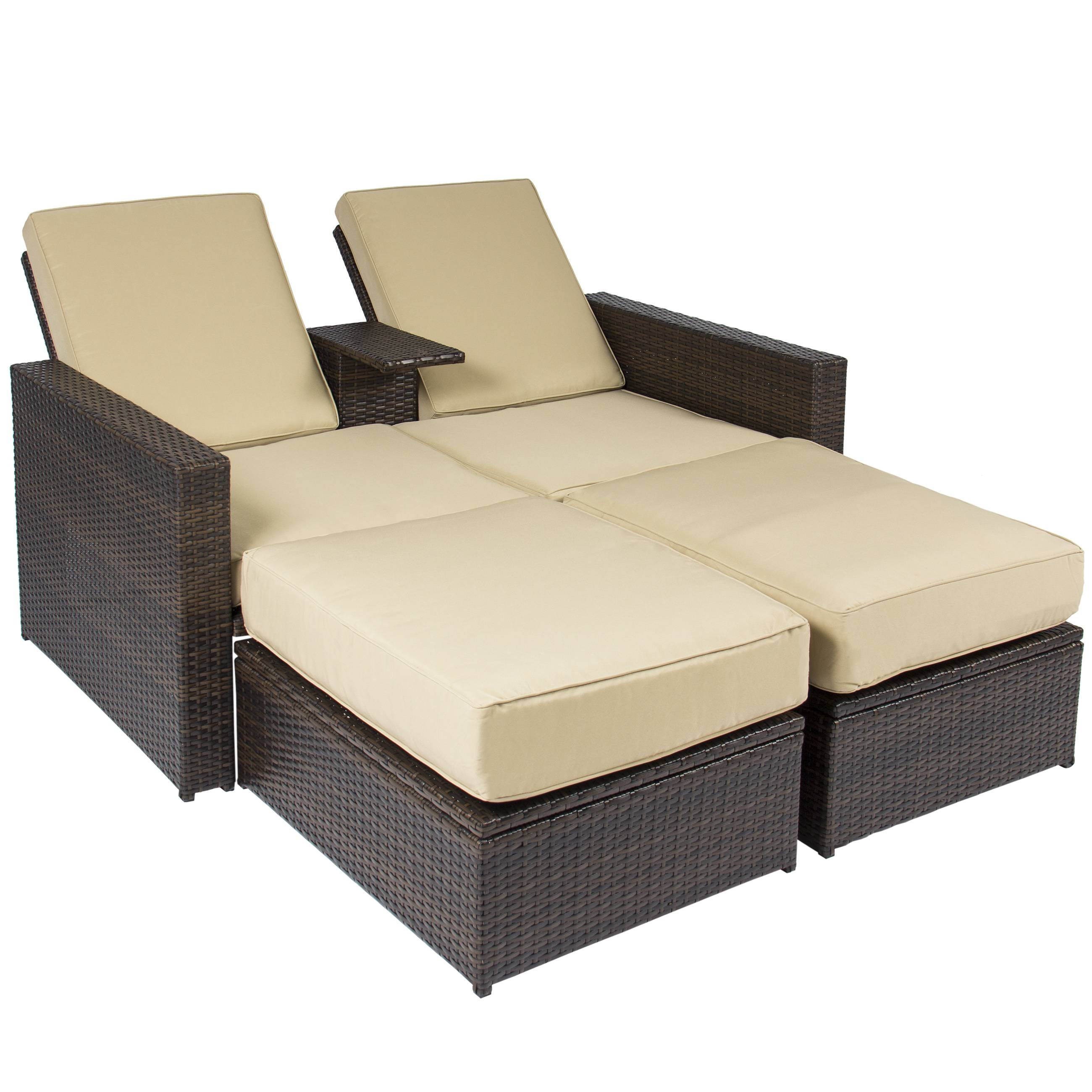 Best Choice Products 7Pc Outdoor Patio Garden Furniture Wicker inside Outdoor Sofa Chairs (Image 7 of 30)