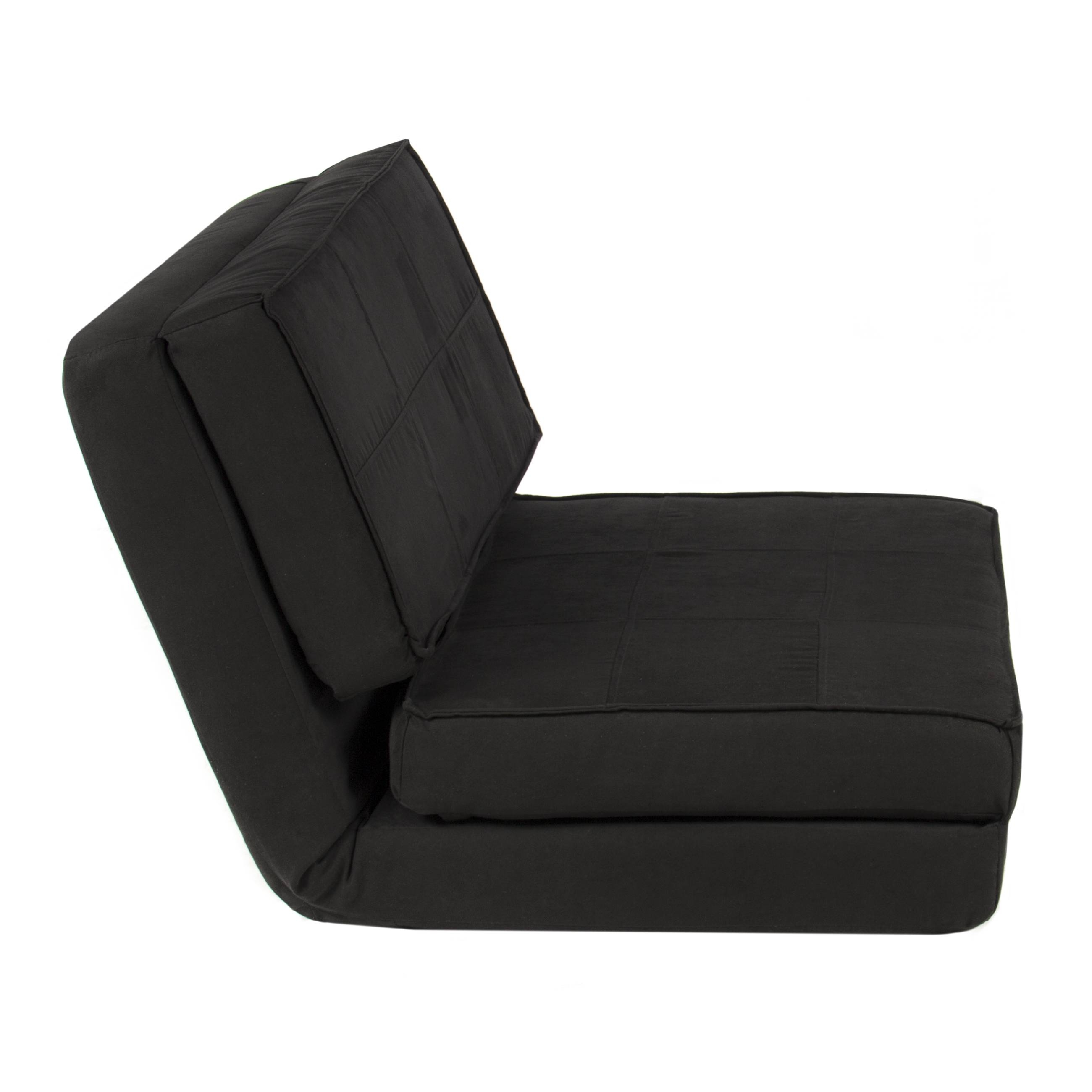 Best Choice Products Convertible Sleeper Chair Bed (Black throughout Folding Sofa Chairs (Image 6 of 30)