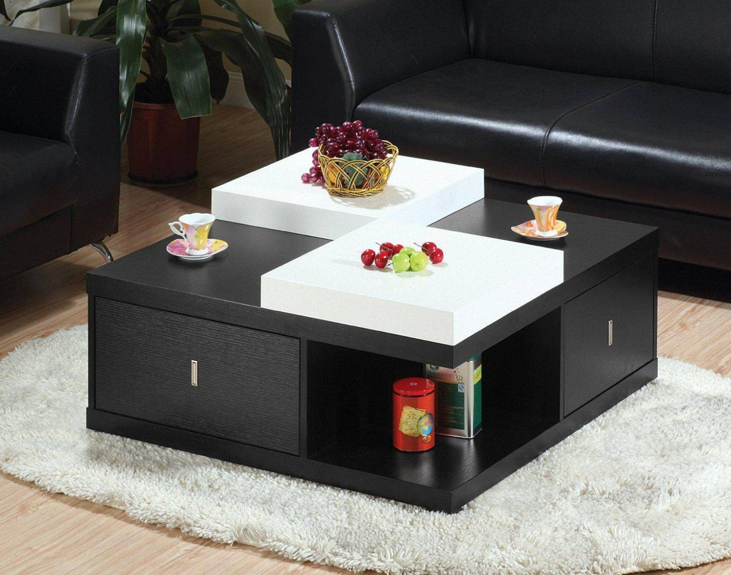 Best Design Square Coffee Table With Storage Bed & Shower For Big Black Coffee Tables (View 24 of 30)
