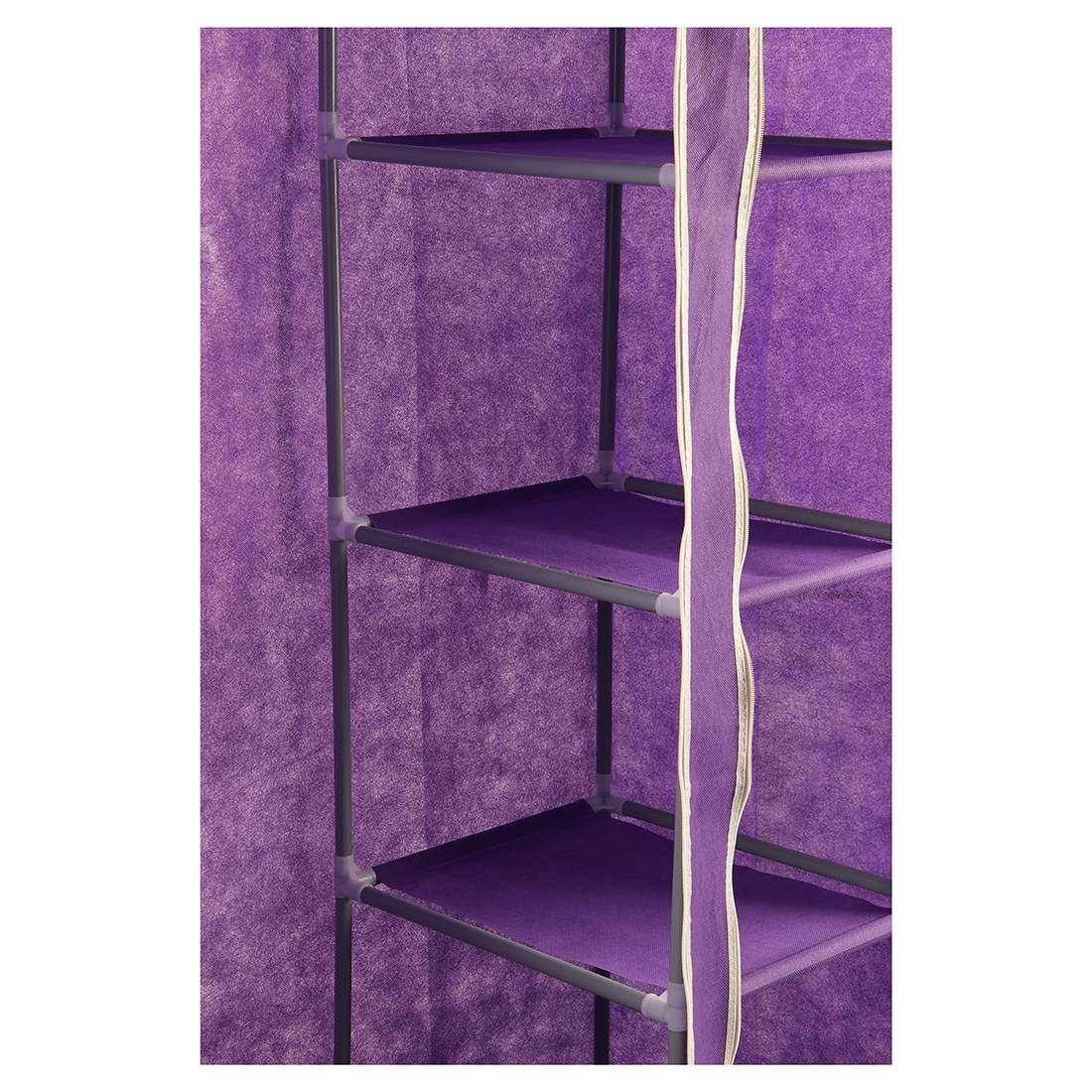 Best Foldable Double Canvas Wardrobe Clothes Rail Hanging Storage with Double Canvas Wardrobe Rail Clothes Storage Cupboard (Image 5 of 30)