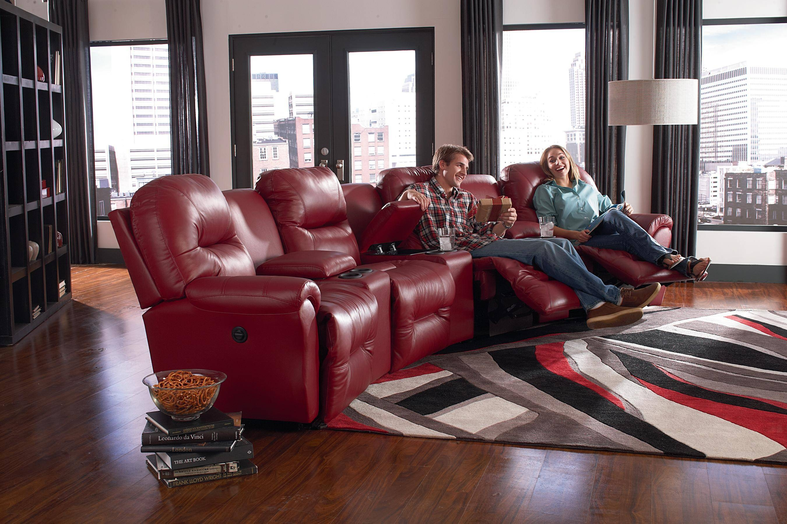Best Home Furnishings Bodie Six Piece Reclining Sectional Sofa regarding Theatre Sectional Sofas (Image 3 of 30)