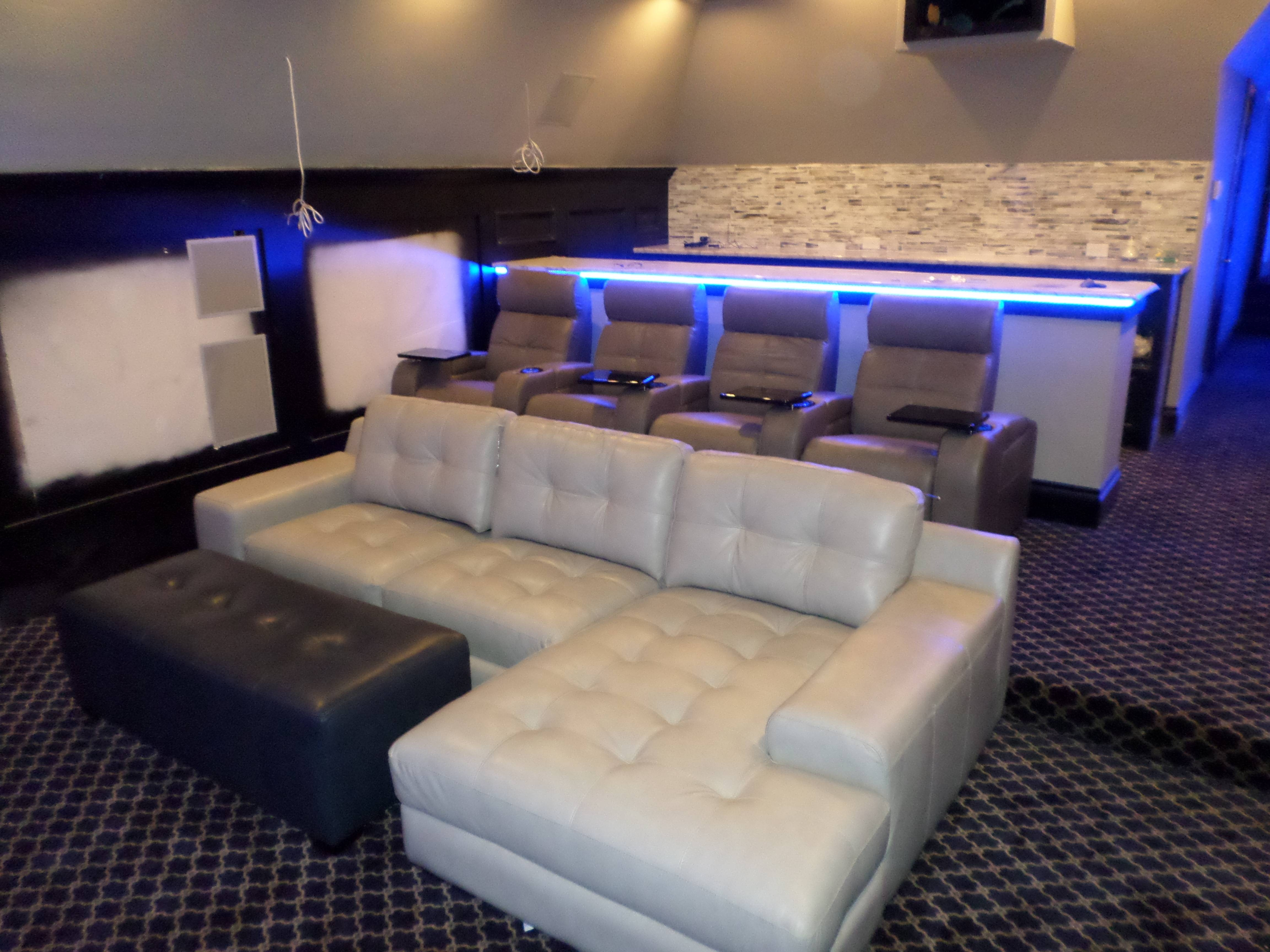 Best Home Theater Designs Youtube Intended For The Movie With Regarding  Theatre Sectional Sofas (Photo